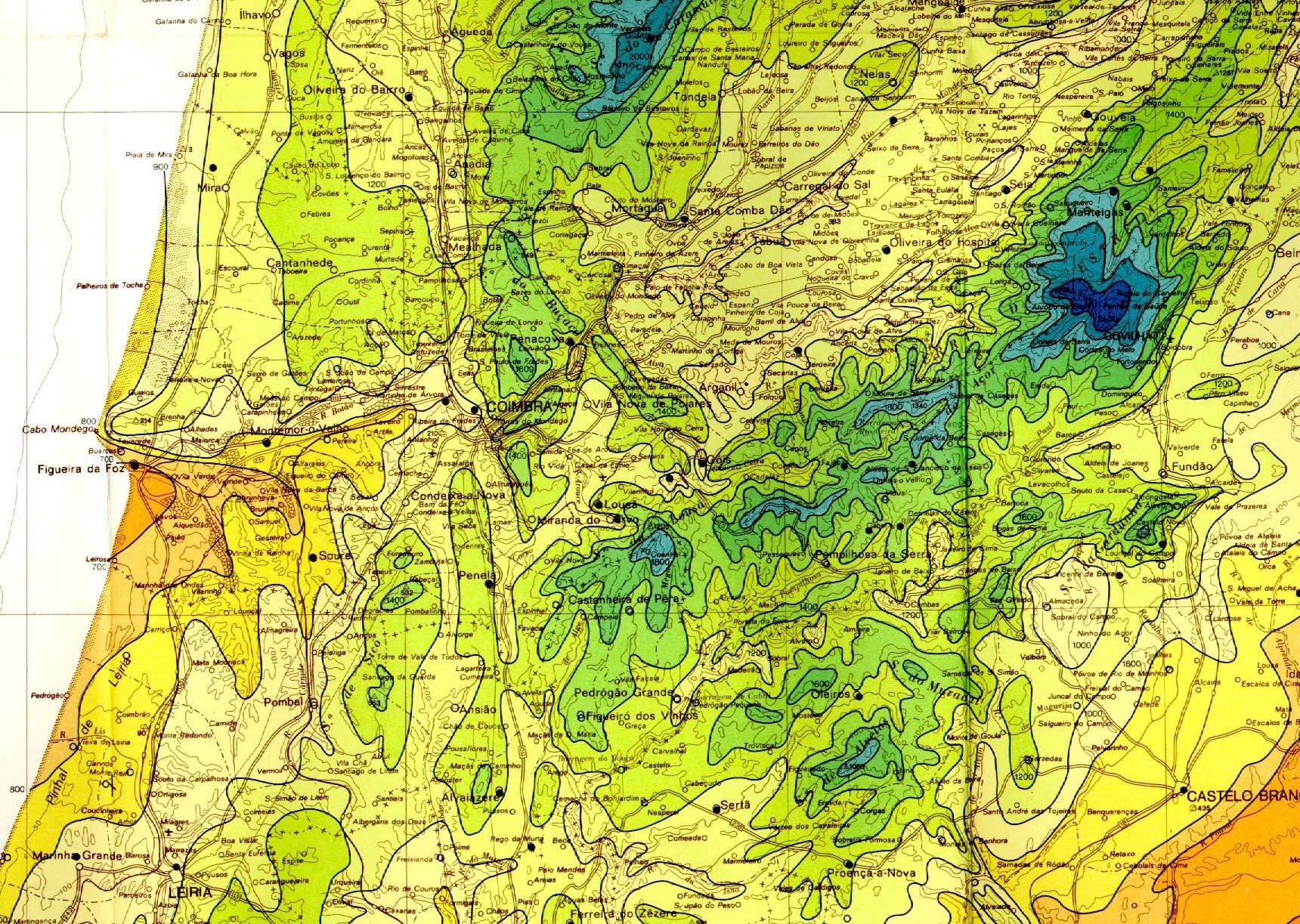 mapa de ventos de portugal Geografia Física de Portugal mapa de ventos de portugal